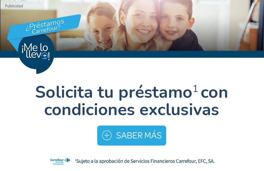Solicita préstamo Carrefour
